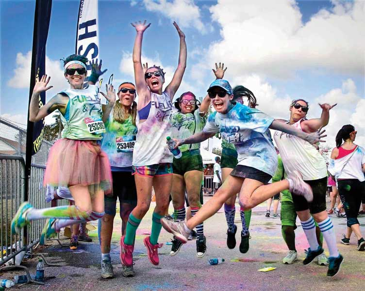 West Palm Beach Color Vibe 5k Run