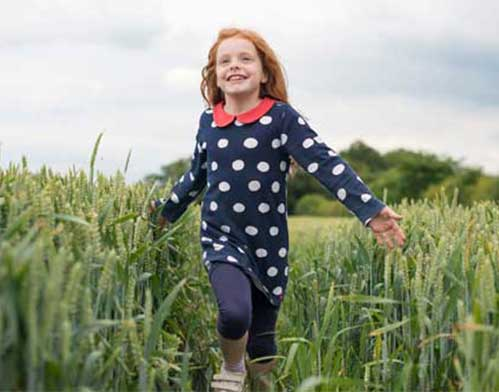 A Ton of Reasons to Eat Organic Little Girl Running in Wheat Field