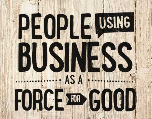 B-Corp - People Using Business as a Force for Good - B the Change