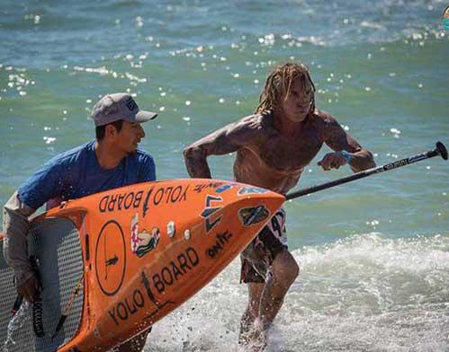 Ernest Johnson Athlete Paddleboarding