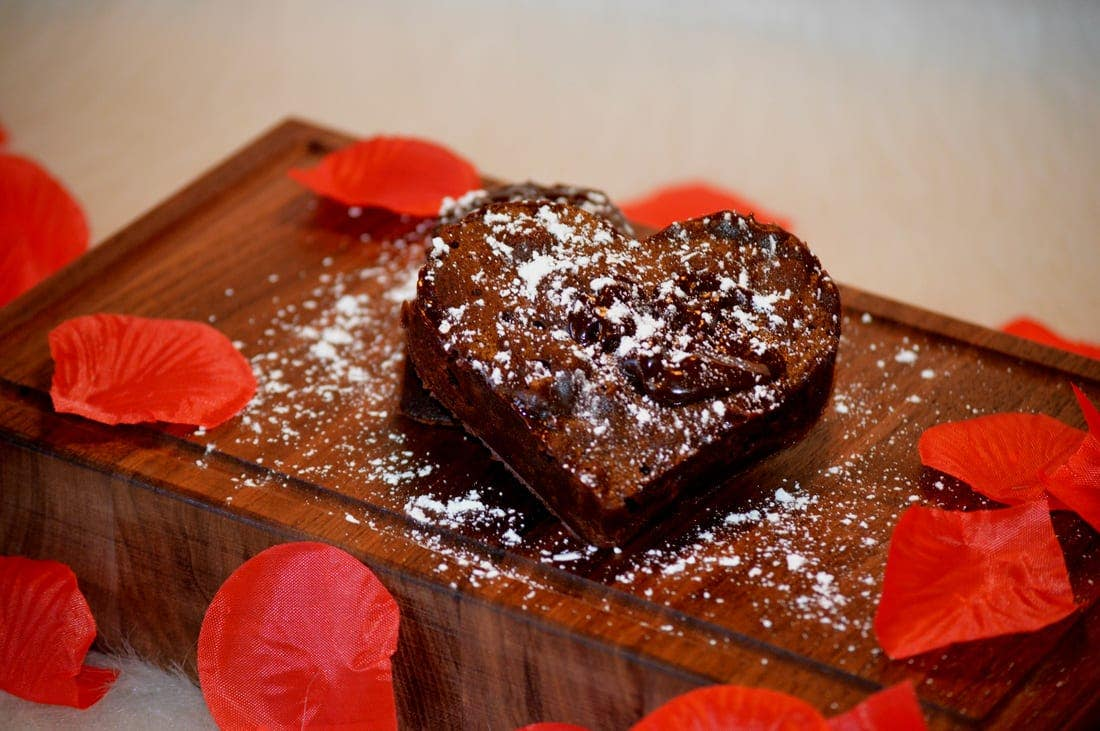 Heart Shaped Raw Protein & greens Molten Cake