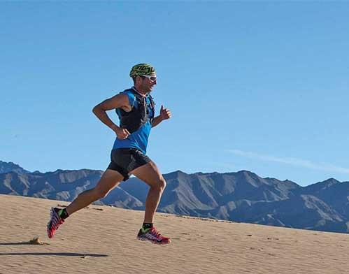 Brand Ambassador Ray Zahab Running in Desert