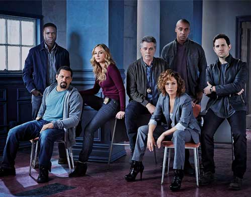 JLo Shades of Blue Cast Photo by eff Riedel NBC