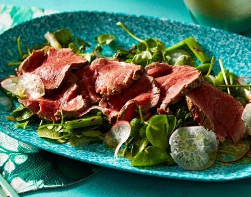beef watercress salad