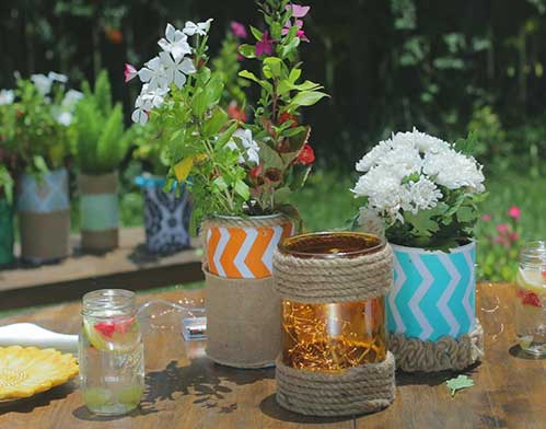 diy upcycled flower pots