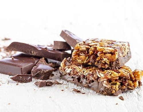 heavenly chocolate nutty bars