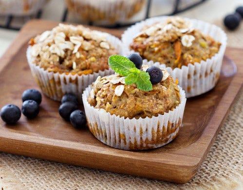 banana oat yum yum muffins
