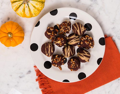chocolate covered coffee protein truffles