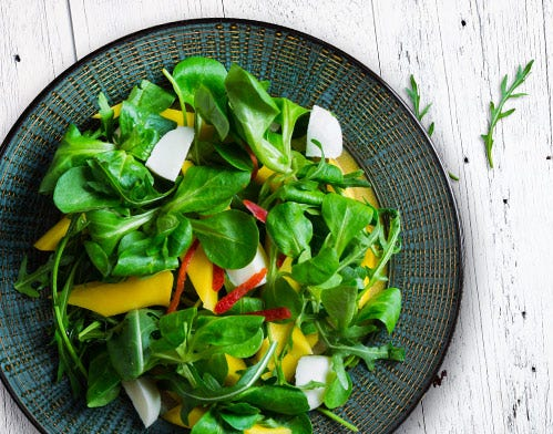 green mango watercress arugula salad