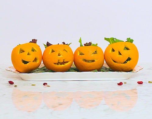 mini pumpkin citrus salad