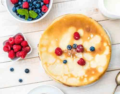 organic plant protein vanilla pancakes