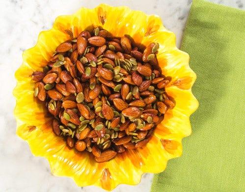 DIY roasted almonds and pepitas