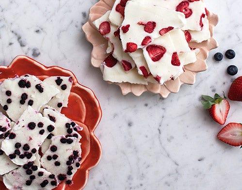 fruit and yogurt bark