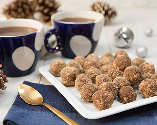 Chocolate gingerbread truffles