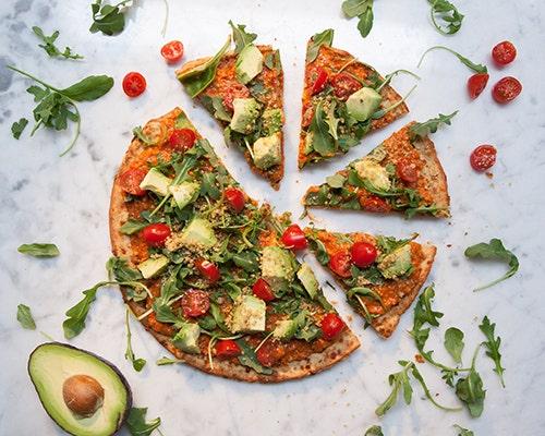 Vegan Arugula Pizza