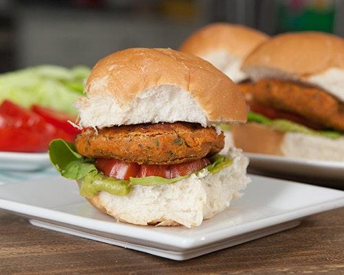 Vegan falafel sliders