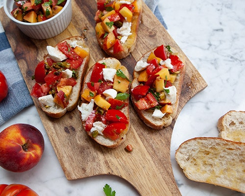 Heirloom Tomato & Peach Bruschetta