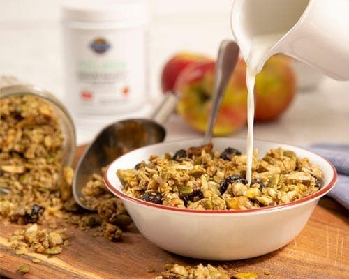 Apple Granola made with Garden of Life's Collagen. Gluten Free, Dairy Free and Soy Free.