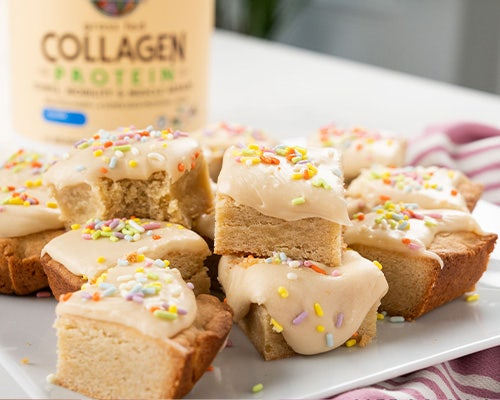 collagen birthday cake bars