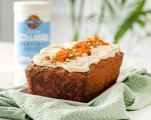 collagen carrot cake loaf
