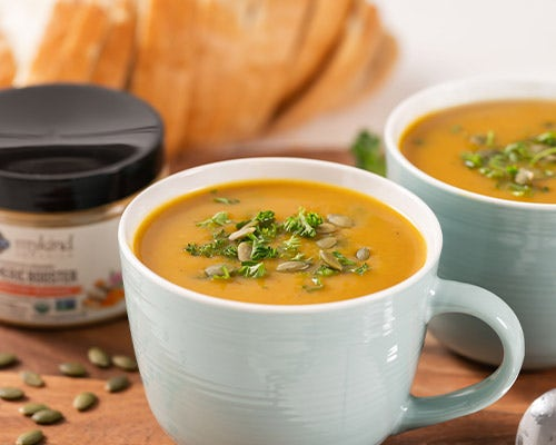 Curry Butternut Squash Soup with Turmeric Boost