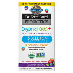 Dr. Formulated Probiotics Organic Kids+ Shelf-Stable Berry Cherry 30 Chewables