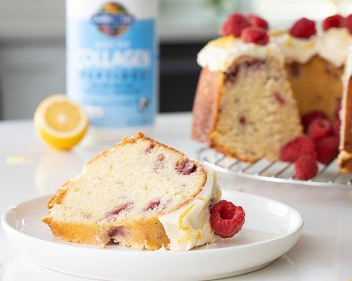 Raspberry Lemon Collagen Bundt Cake
