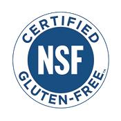 Certified NSF Gluten-free