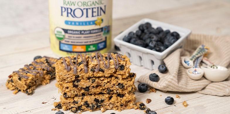 blueberry protein granola bars