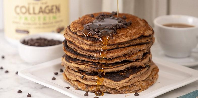 chocolate collagen pancakes