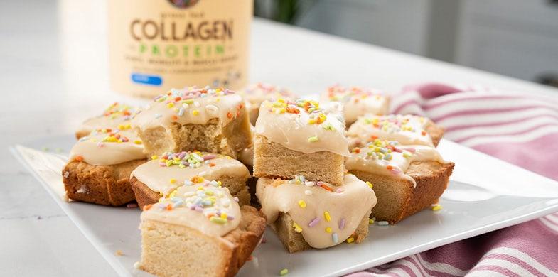collagen birthday cake bars