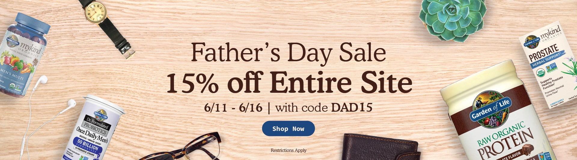 Fathers Day Sale 15% off Entire Site