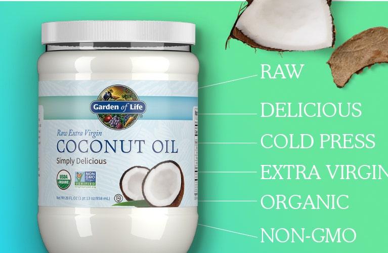 Garden of Life raw extra virgin coconut oil