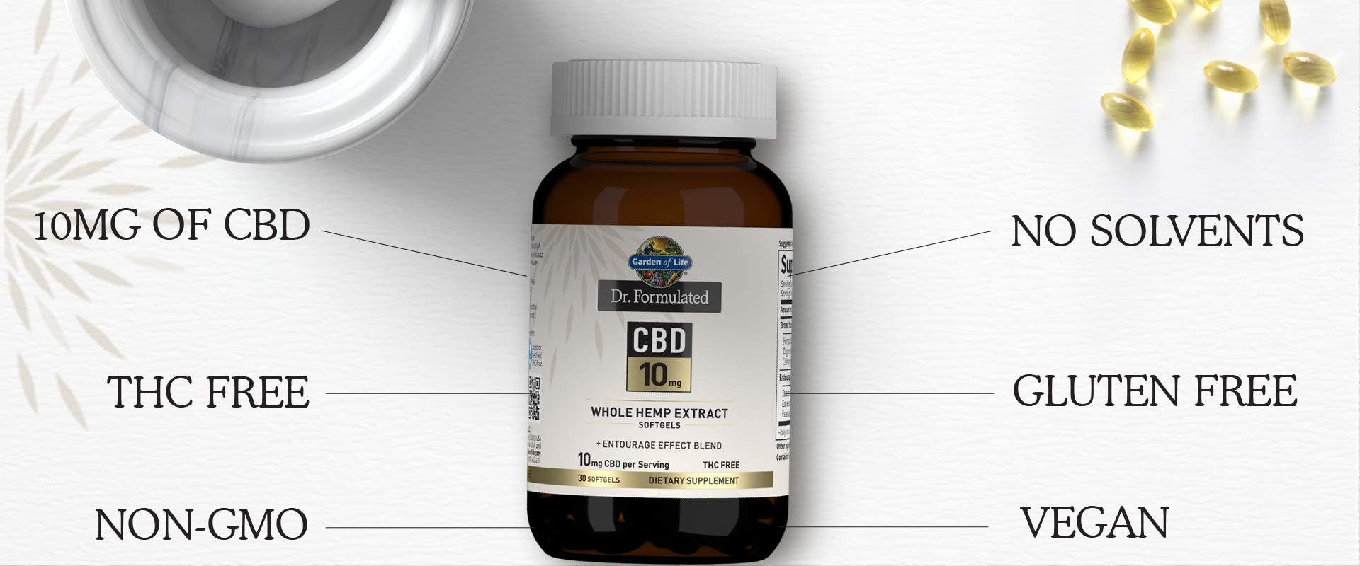 10mg CBD by Dr Formulated from Garden of Life