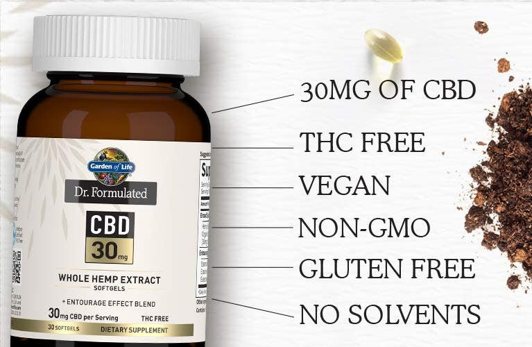 thc free cbd 30mg dr formulated by garden of life