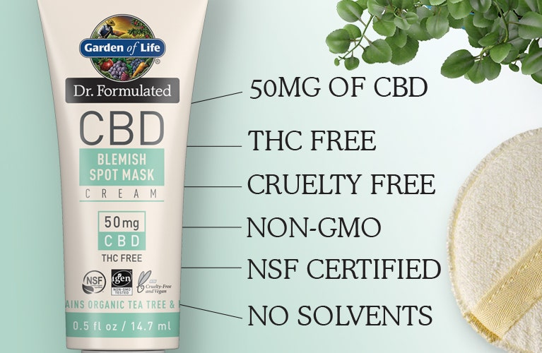 cbd blemish cream Dr Formulated by Garden of Life