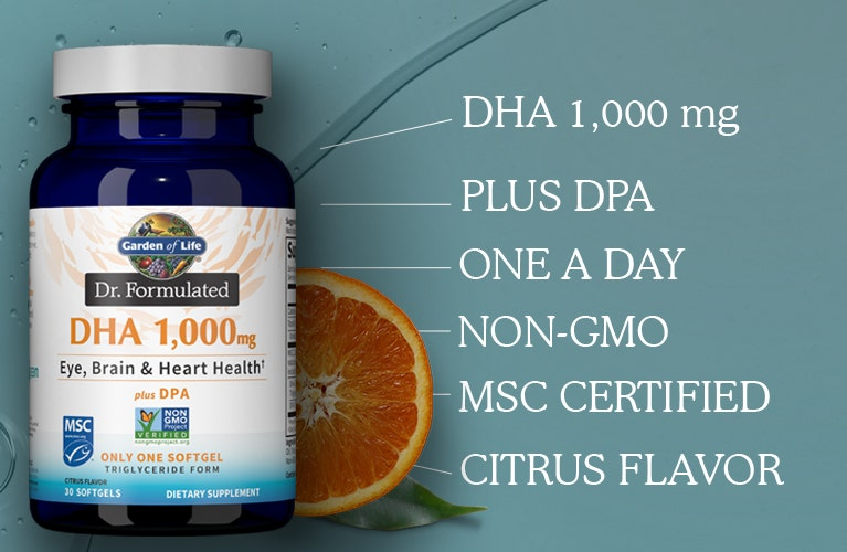 dr formulated dha fish oils from garden of life