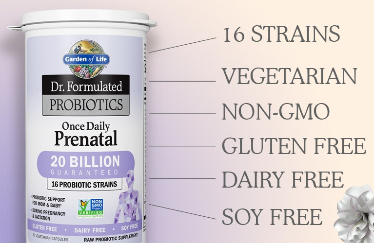 dr formulated probiotics prenatal once daily from garden of life