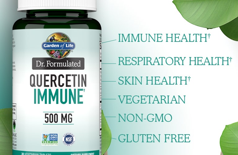 dr formulated 500mg Quercetin Immune by Garden of Life