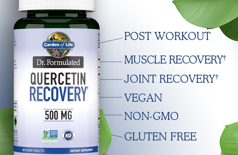 dr formulated 500mg Quercetin Recovery by Garden of Life