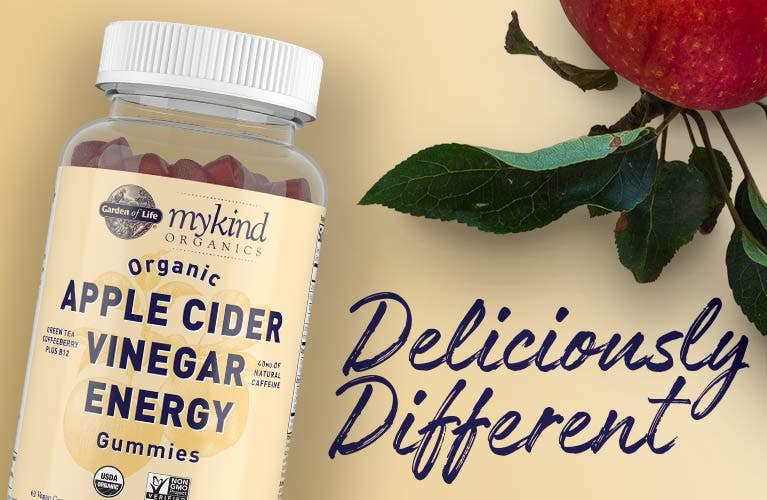 Apple Cider Vinegar Energy Garden of Life mykind Organics