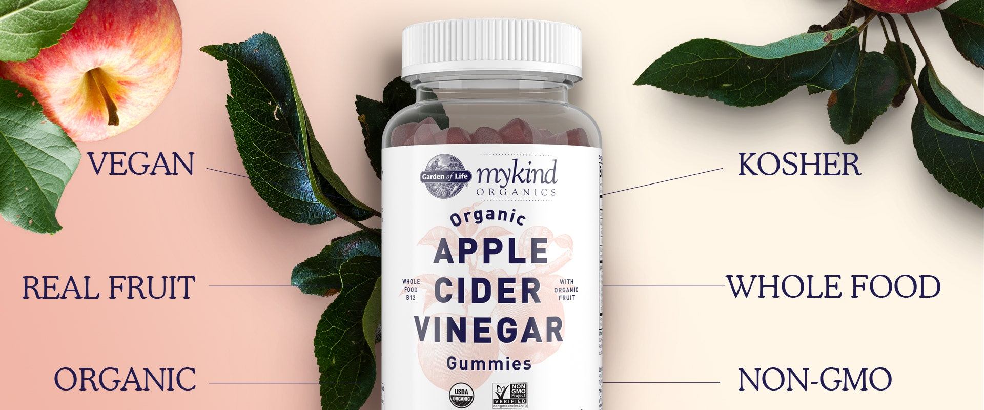 Garden of Life mykind Organics Apple Cider Vinegar Gummies