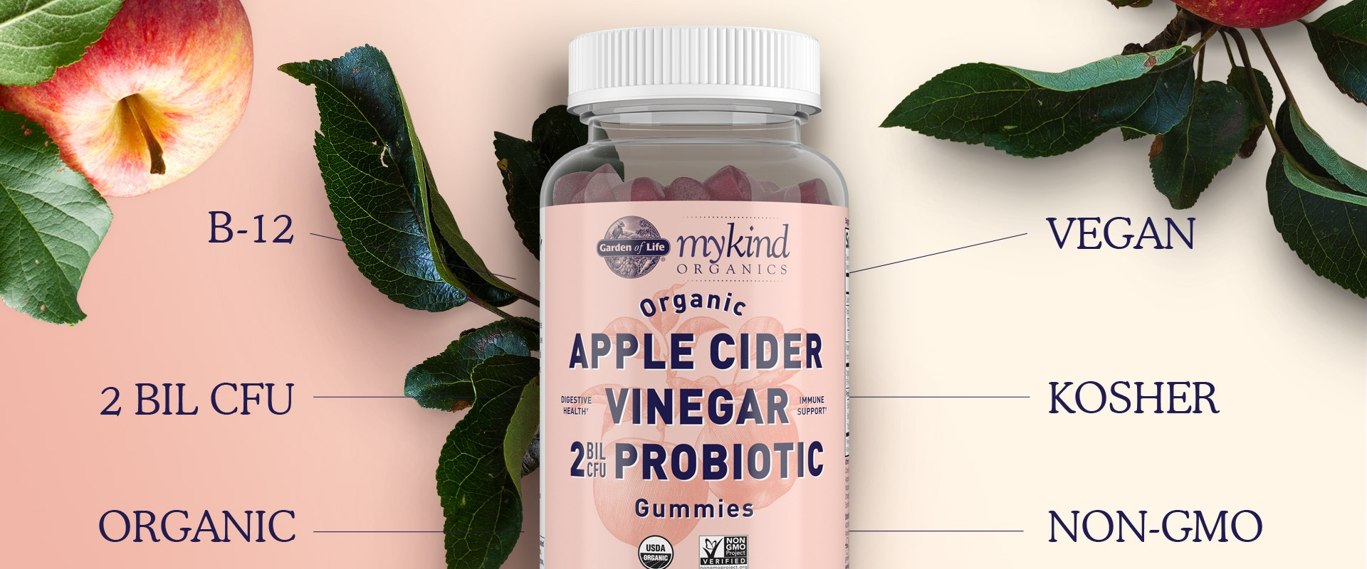 Apple Cider Vinegar Probiotics Gummy Garden of Life mykind Organics