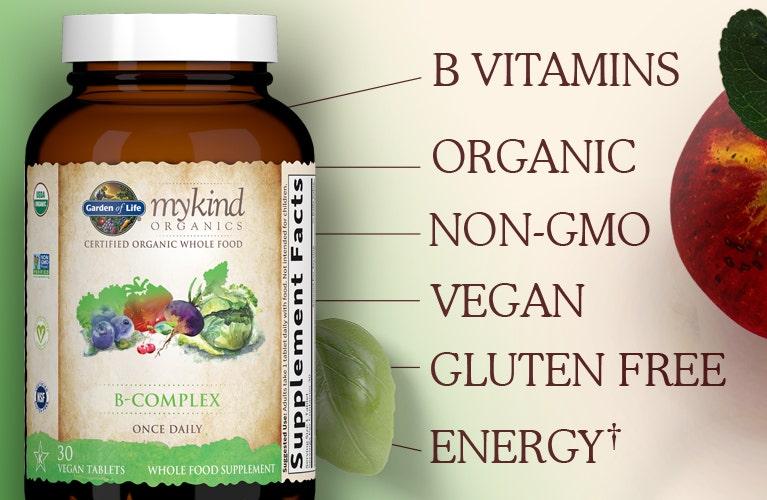 Garden of Life mykind Organics B-Complex Once Daily