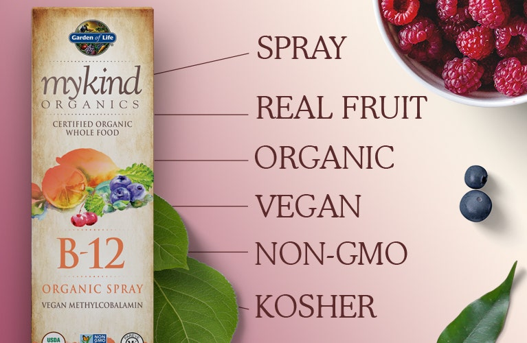Garden of Life mykind Vitamin b12 spray