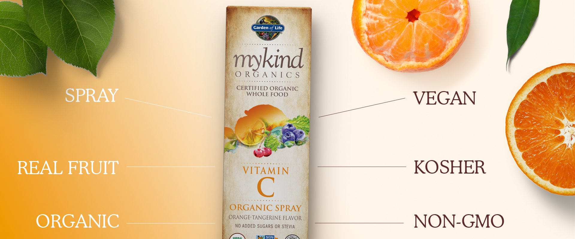 mykind organics vitamin c spray by garden of life