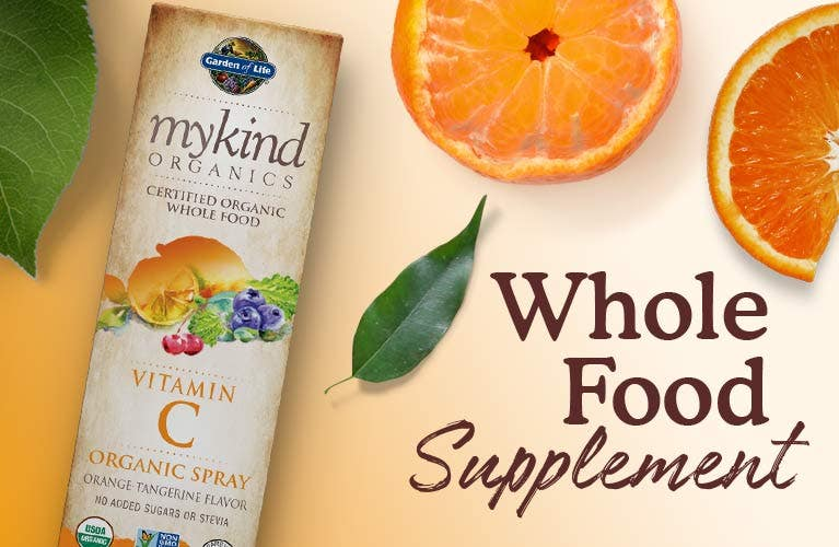 vitamin c spray mykind garden of life