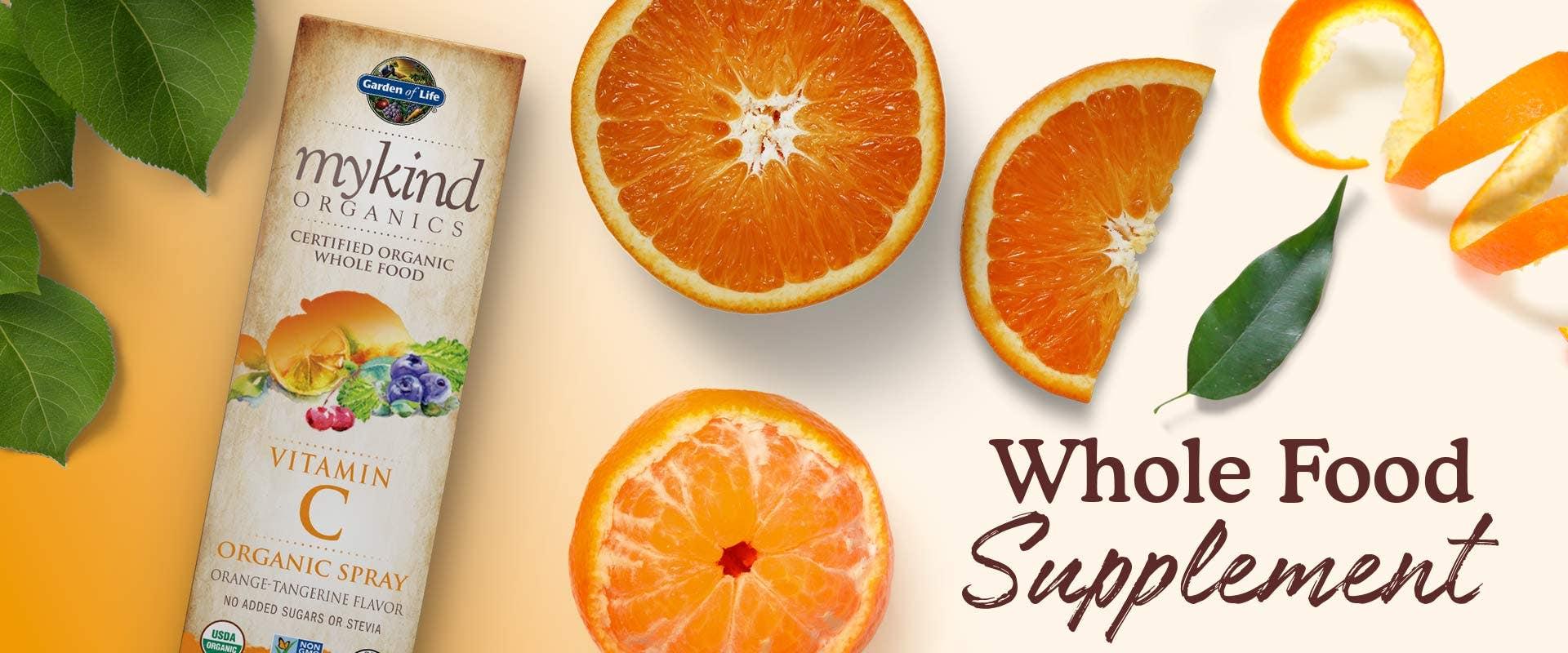 vitamin c spray mykind garden of life