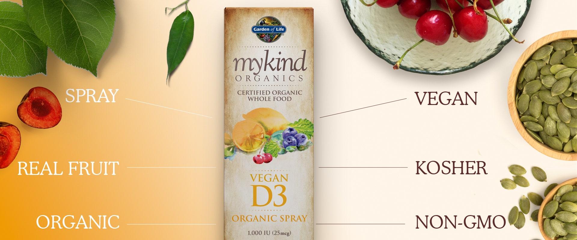 Garden of Life mykind Vitamin D3 Spray Vegan