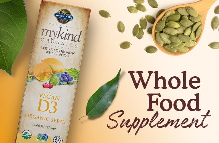 d3 spray whole food mykind by garden of life